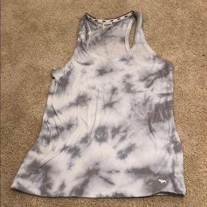 Gray and white workout Victoria's Secret tank top